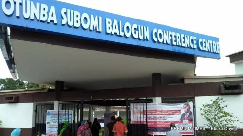 Subomi Balogun confrence centre inside the University of Ibadan, venue of the Maiden Edition of Babatunde Osotimehin Legacy Forum.