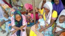 Displaced women in Jiddari polo
