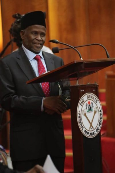 Ibrahim Tanko Mohammed during his confirmation by the Senate. [Photo: PM News]