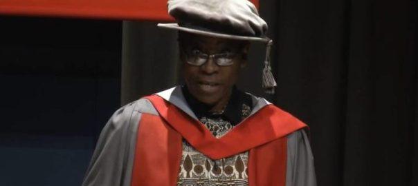 Mr Nnimmo Bassey presenting his speech at University of York, England