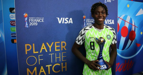 Asisat Oshoala, Super Falcons forward [Photo: FIFA]