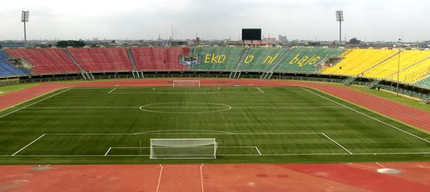 Nigerian football pitch used to tell the story.