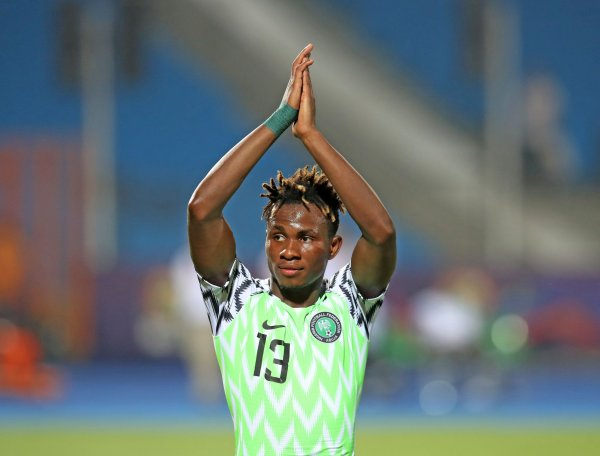 Samuel Chukwueze [PHOTO CREDIT: Official Twitter handle of the SUper Eagles]