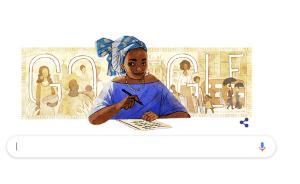 Google doodly of Buchi Emecheta's 75th birthday