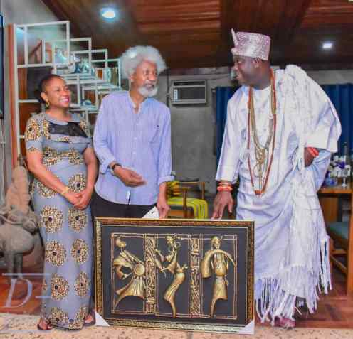 Prof Wole Soyinka and Ooni of Ife