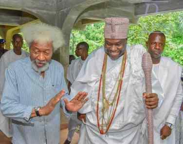 Prof Wole Soyinka and Ooni of Ife