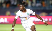 Ivory Coast's Wilfried Zaha celebrates scoring their first goal (Photo: REUTERS)