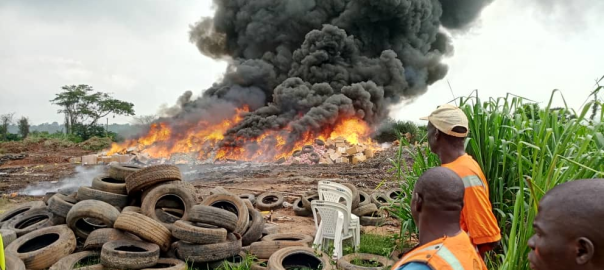 Nigeria destroys 58 containers of tramadol,