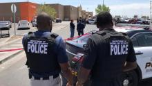 Police investigate near the scene of the shooting at the Walmart in El Paso, Texas, on Saturday, August 3. [PHOTO CREDIT: CNN]