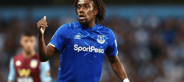 Alex Iwobi debuts for Everton