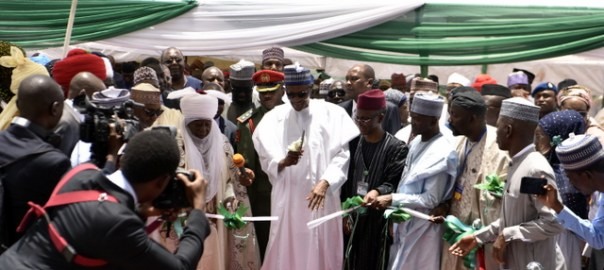 Attached. Photo Caption: Ending 30 years of Water Scarcity: President Muhammadu Buhari commissions Phase 2 of the Zaria Water Project, assisted Kaduna State Governor, Malam Nasir El-Rufai and HRH Dr Shehu Idris, the Emir of Zaria Credit: KDSG