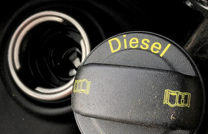 Diesel sign used to tell the story.