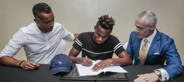 Jay-Z's Roc Nation Sports signs Samuel Chukwueze. [PHOTO CREDIT: Official Twitter handle of Jay-Z's Roc Nation Sporting Company]