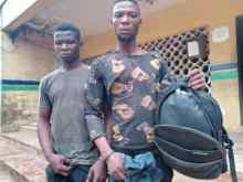 The suspected robbers