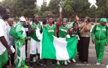 Nigeria female basketball team at the African Games