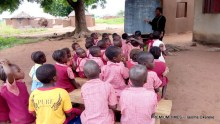 Nursery three pupils of LEA Primary School, Kadarko learning under tree