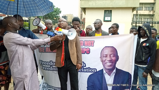 Some of the RevolutionNow activists in Abuja