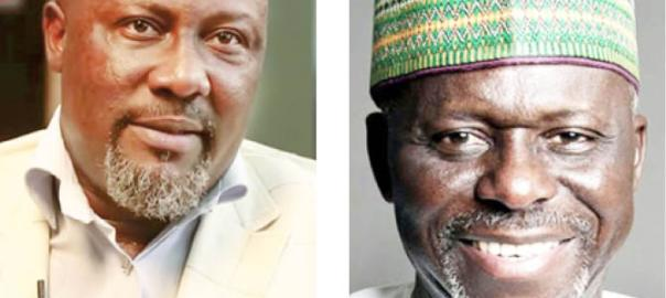 Idris Wada and Dino Melaye contesting for the governorship seat in Kogi State under the PDP. [PHOTO CREDIT: Daily Trust]