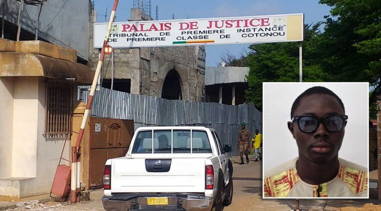 Journalist Ignace Sossou, inset, has been convicted under Benin's new digital media laws.