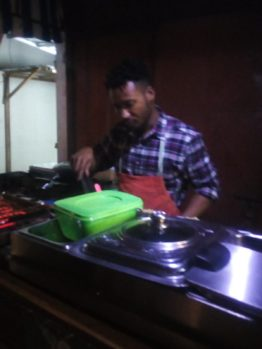 Local chef in Accra