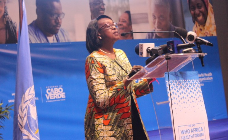 The World Health Organisation's (WHO) Regional Director for Africa, Matshidiso Moeti. [PHOTO CREDIT: AllAfrica.com]