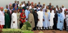 President Muhammadu Buhari with new ministers