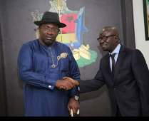 Governor Seriake Dickson and New Press Secretary Fidelis Soriwei