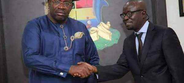 Governor Seriake Dickson and New Press Secretary Fidelis Soriwei