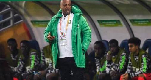coach Paul Aigbogun of Nigeria U20 during the FIFA U-20 World Cup Poland 2019 group D match between USA U20 and Nigeria U20 at Bielsko-Biala Stadium on May 27, 2019 in Bielsko-Biala, Poland(Photo by VI Images via Getty Images)