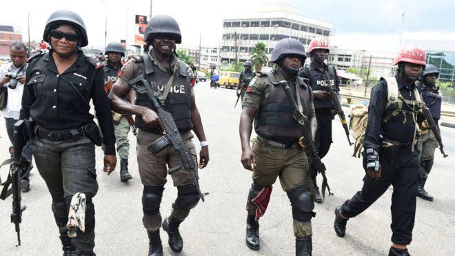 Heavily Armed Policemen
