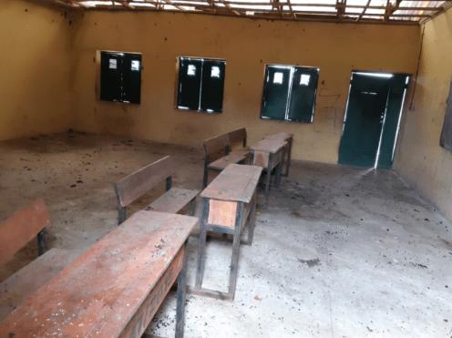 A classroom at Kutara village