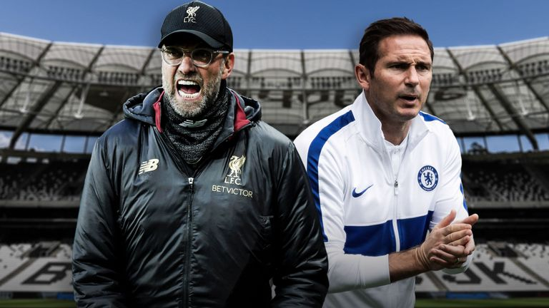 Jurgen Klopp and Frank Lampard in UEFA supercup face-off [Photo: Skysport]