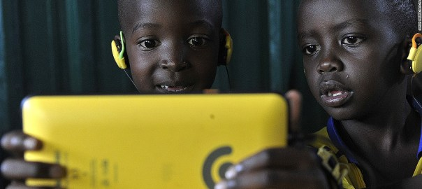 Children using a mobile device [Photo: CNN]