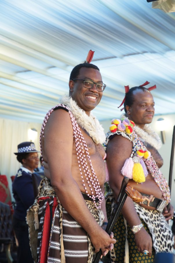 AfDB president Adesina honoured by Swazi King at traditional ceremony