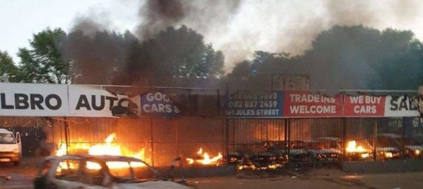 Attack on Nigerian business in South Africa (Photo Credit: SaharaReporters)