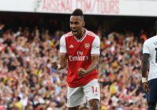 Arsenal forward, Pierre-Emerick Aubameyang. [PHOTO CREDIT: Arsenal Twitter handle]