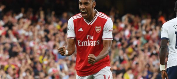 Arsenal forward, Pierre-Emerick Aubameyang. [PHOTO CREDIT: Arsenal Twitter handle]