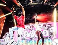 Davido joined Chris Brown on stage at the latter's IndiGOAT tour at Barclays Center over the weekend Photo Instagram