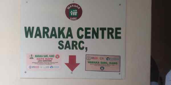 Office signpost, Sexual Assault Referral Centre, Kano.