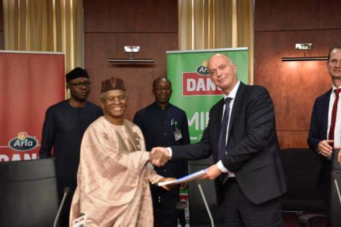 MoU Signing on Partnership between Arla Foods and Kaduna State Government on the Development of Local Dairy Value Chain in Kaduna on Monday.