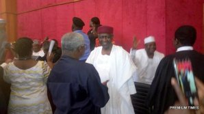 Abba Kyari arrives the court.