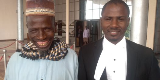 One of the herders, Mr Jingi and his lawyer Hafizu Abubakar
