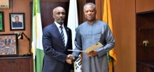 UNDP Newly Appointed Resident Representative Mohamed Yahya and Geoffrey Onyeama (Photo: Twitter)