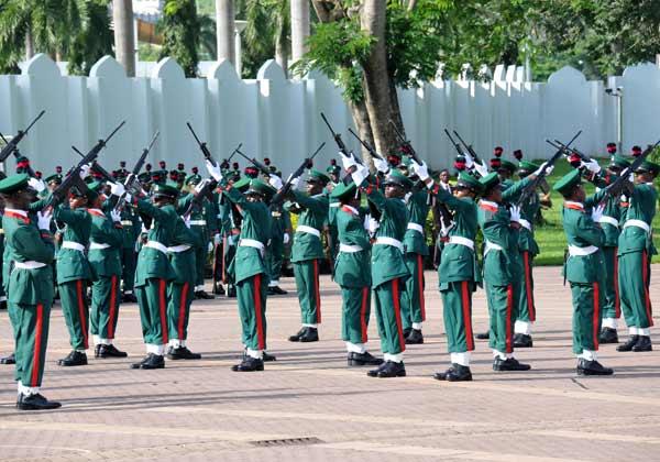 FILE PHOTO: Nigerian Army gun salute parade [Picture: NAN]