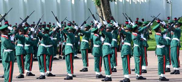 FILE PHOTO: Nigerian Army gun salute parade [Picture: NAN]