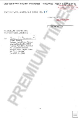 Documents indicting Obinwanne Okeke