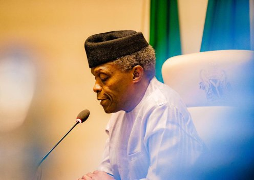 Nigeria's Vice President, Yemi Osinbajo [PHOTO CREDIT: Osinbajo's official twitter account]