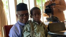 El-Rufai enrols son in public primary school. [PHOTO CREDIT: Rufai's Twitter handle]