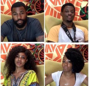 Four housemates, Khafi Kareem, Mike Edwards, Tacha Akide and Seyi Awolowo are up for possible eviction.