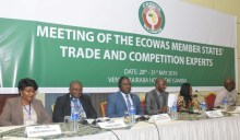 L-R: Mrs Henrietta Didigu, Judethaddeus Etong, Commissioner Konzi, Ebrima Drammeh, Mrs Vabah Gayflor and Mr. Amadou Ceesay